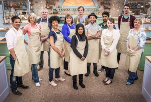 WARNING: Embargoed for publication until 28/07/2015 - Programme Name: The Great British Bake Off - TX: n/a - Episode: n/a (No. 1) - Picture Shows: +++Publication of this image is strictly embargoed until 00.01 hours Tuesday July 28th 2015+++ The Great British Bake Off contestants - (C) Love Productions - Photographer: Mark Bourdillon